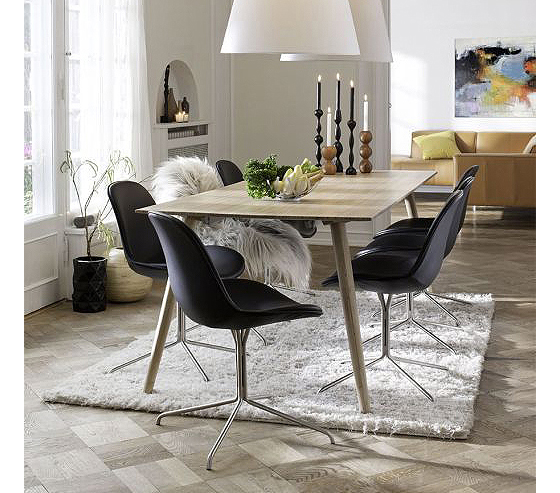 Wing Dining table interiors